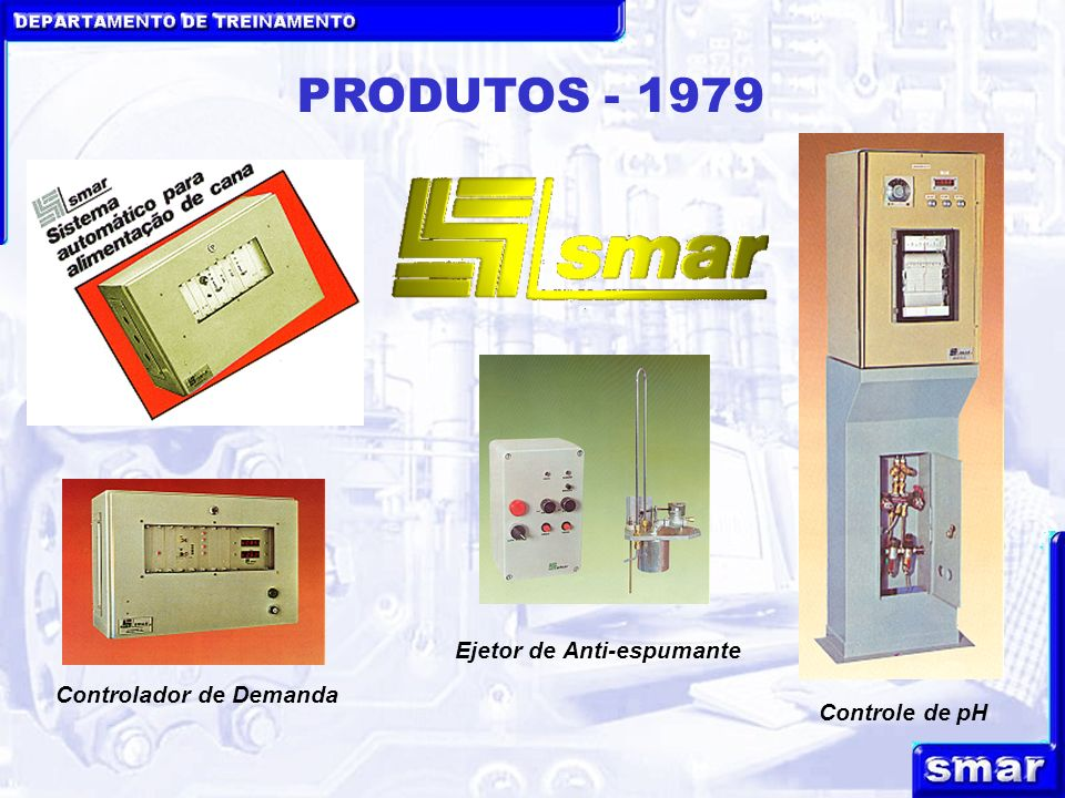 DEPARTAMENTO DE TREINAMENTO smar PRINCIPAIS PRODUTOS SMAR LINHA FIELDBUS LD-302LD-302 Transmissor de Pressão LD-302SLD-302S Transmissor de Nível Sanitário TT-302TT-302 Transmissor de Temperatura