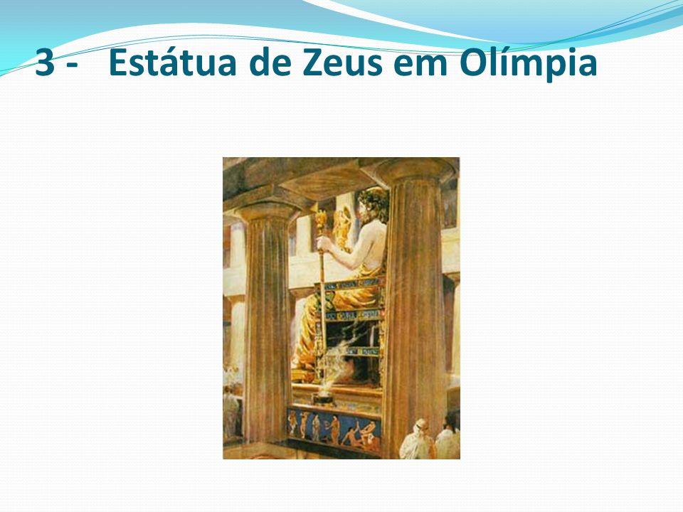A estátua de Zeus em Olímpia foi construída no século V a.C.