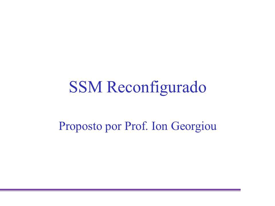SSM Reconfigurado Proposto por Prof. Ion Georgiou