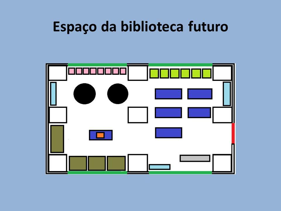 Espaço da biblioteca futuro