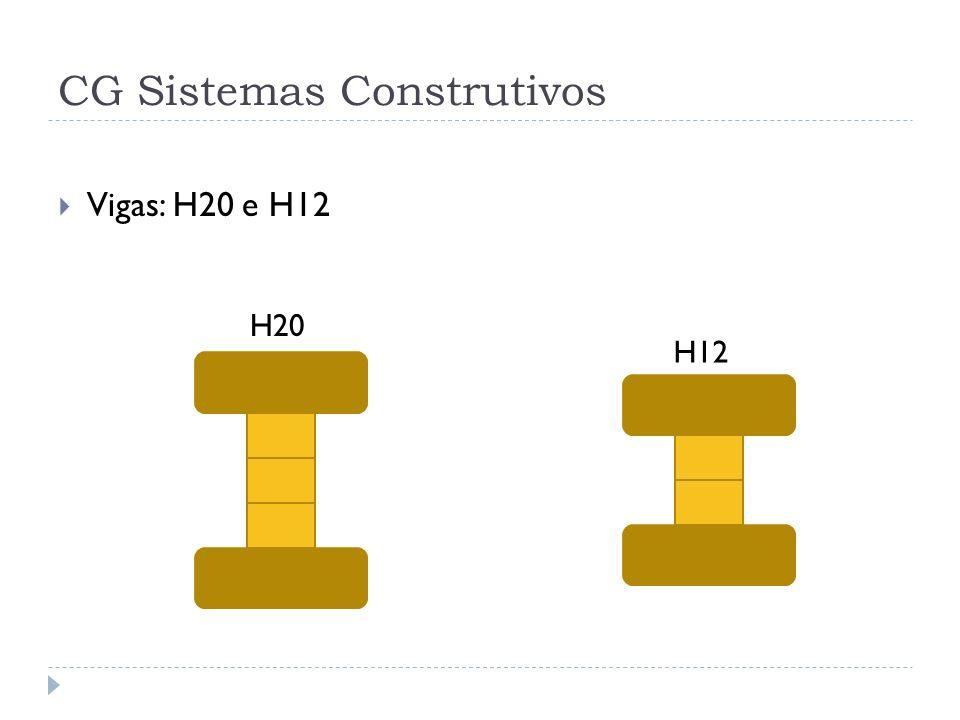 CG Sistemas Construtivos Vigas: H20 e H12 H20 H12