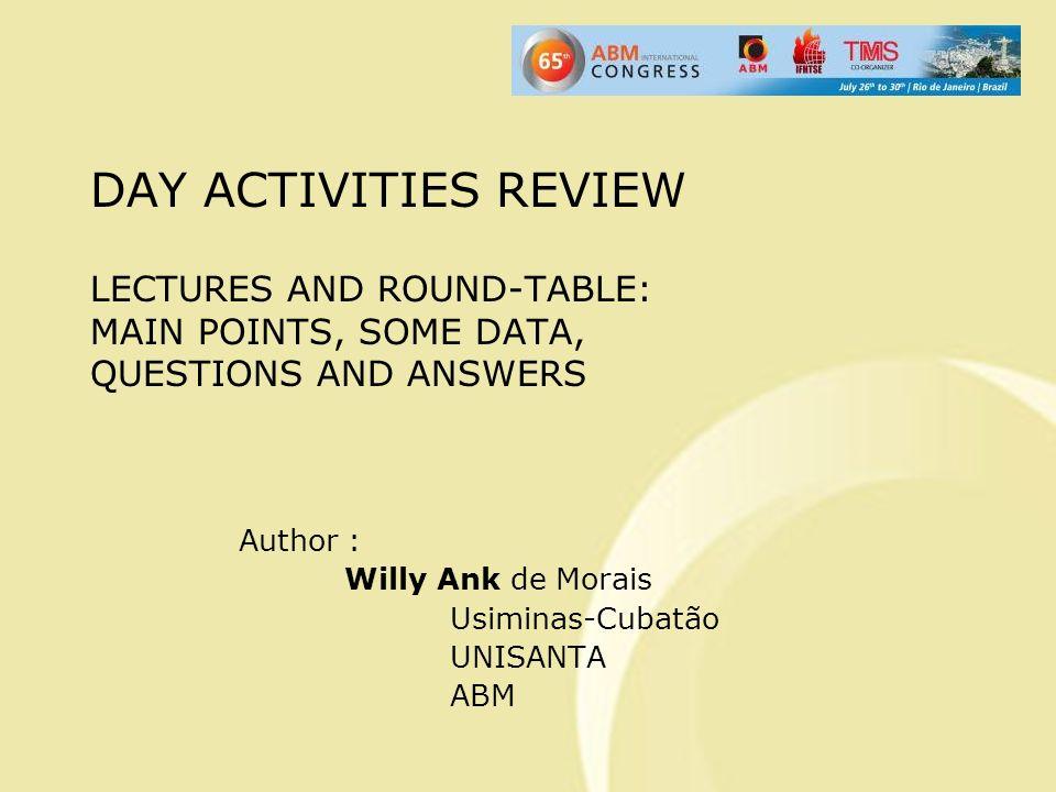 4 a Palestra do 10 o ENEMET Horário: 14h45 Assunto: Tecnologia Limpa na Indústria do Alumínio Prof.
