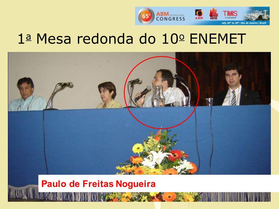 1 a Mesa redonda do 10 o ENEMET Paulo de Freitas Nogueira