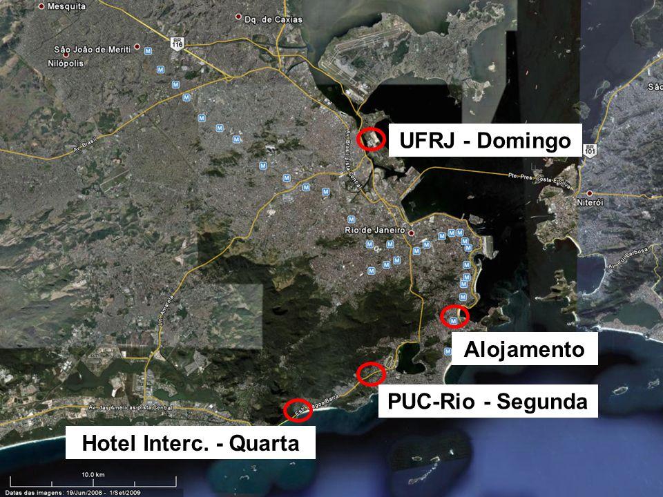 PROGRAMAÇÃO Este ano o ENEMET apresentou uma grade difersificada de atividades: Alojamento UFRJ - Domingo PUC-Rio - Segunda Hotel Interc. - Quarta