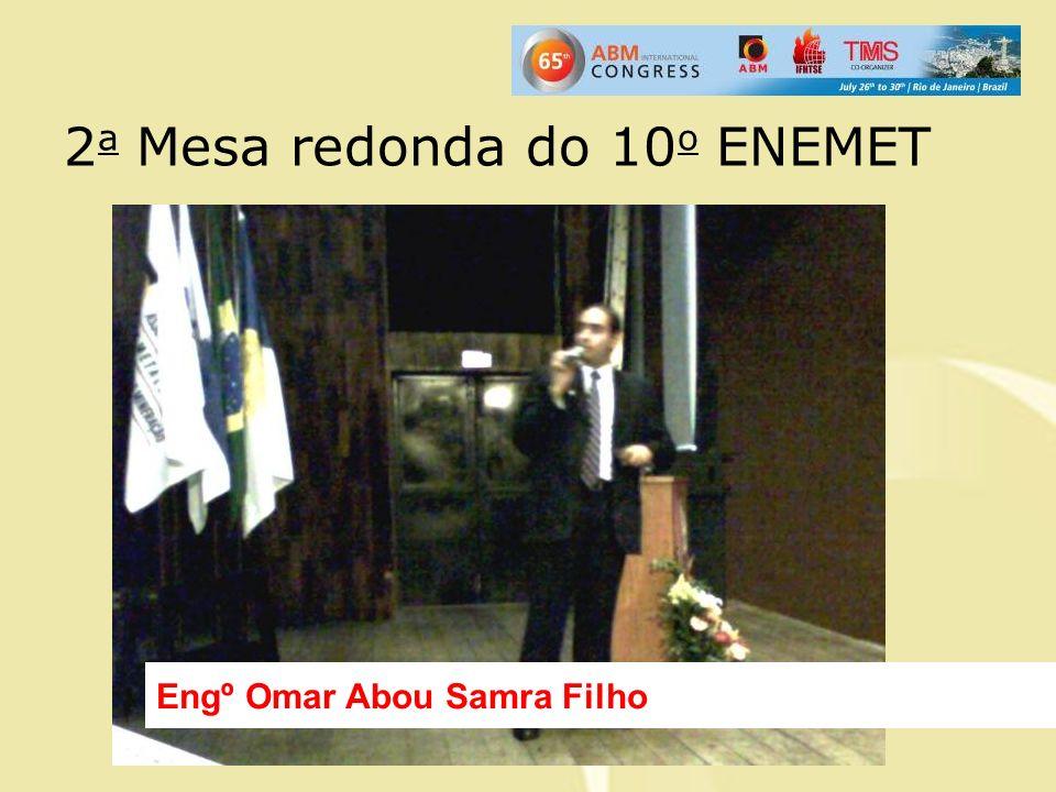 2 a Mesa redonda do 10 o ENEMET Engº Omar Abou Samra Filho
