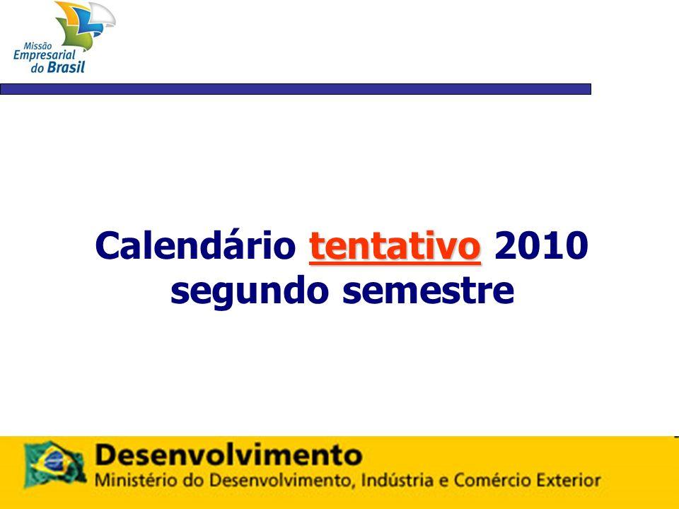 tentativo Calendário tentativo 2010 segundo semestre