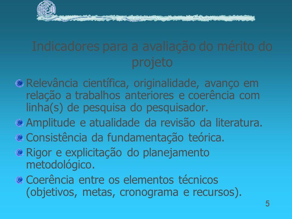 5 Relevância científica, originalidade, avanço em relação a trabalhos anteriores e coerência com linha(s) de pesquisa do pesquisador. Amplitude e atua