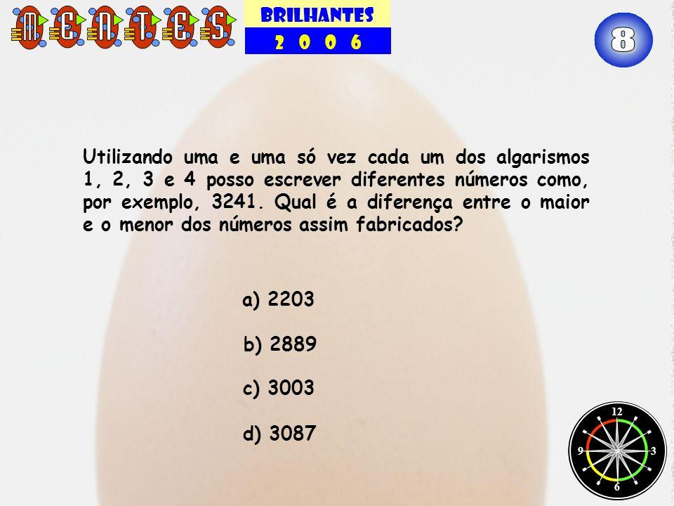 BRILHANTES 2 0 0 6 12 3 6 9 Utilizando uma e uma só vez cada um dos algarismos 1, 2, 3 e 4 posso escrever diferentes números como, por exemplo, 3241.