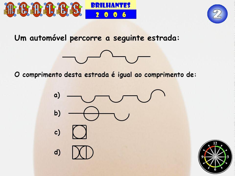 BRILHANTES 2 0 0 6 12 3 6 9 Qual o próximo número da sequência: 1, 1, 2, 3, 5, 8,...