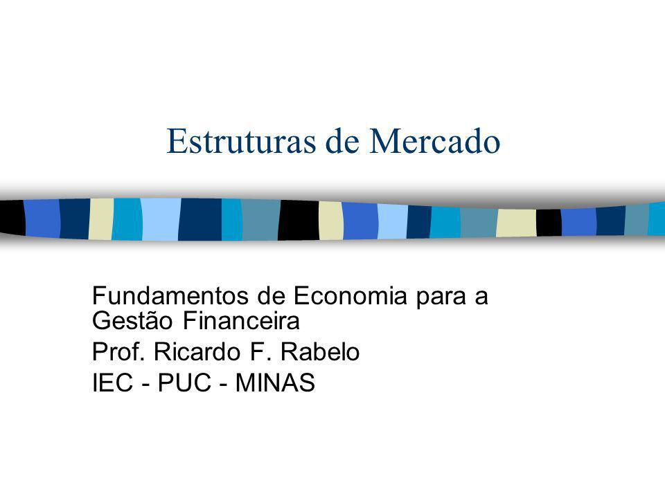 Estruturas de Mercado Fundamentos de Economia para a Gestão Financeira Prof. Ricardo F. Rabelo IEC - PUC - MINAS