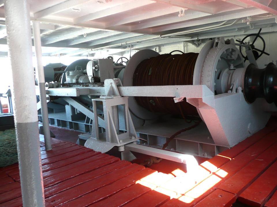 Roda do Leme exterior na ré do navio...