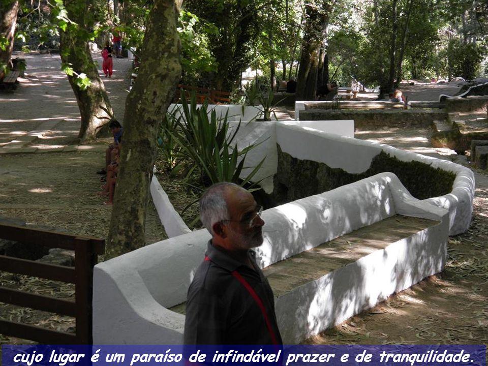 Subindo por socalcos equipados com bancos e mesas, estes convidam o visitante a uma apetitosa merenda