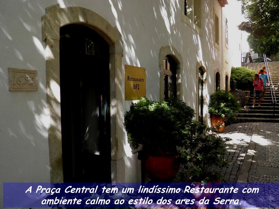A Praça Central tem um lindíssimo Restaurante com ambiente calmo ao estilo dos ares da Serra.