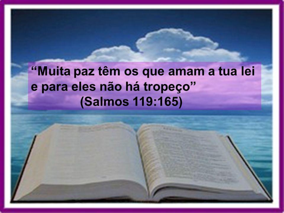 Muita paz têm os que amam a tua lei e para eles não há tropeço (Salmos 119:165)