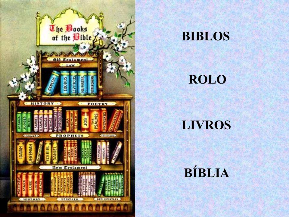 BIBLOS ROLO LIVROS BÍBLIA