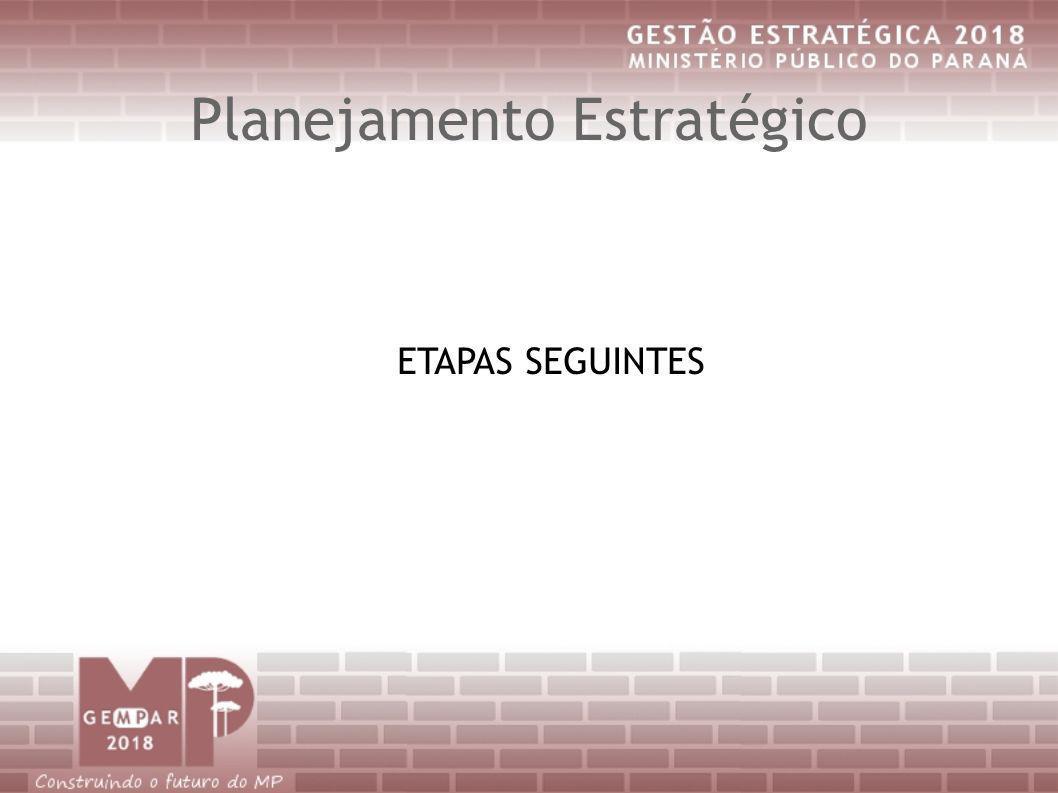 Planejamento Estratégico ETAPAS SEGUINTES