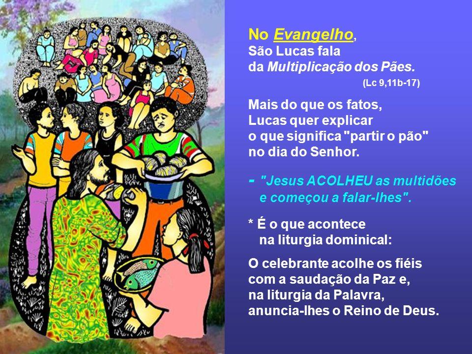 Na 2ª Leitura, São Paulo fala da Instituição da Eucaristia para destacar a incompatibilidade entre o partir o pão e as discórdias, que haviam na comunidade de Corinto.