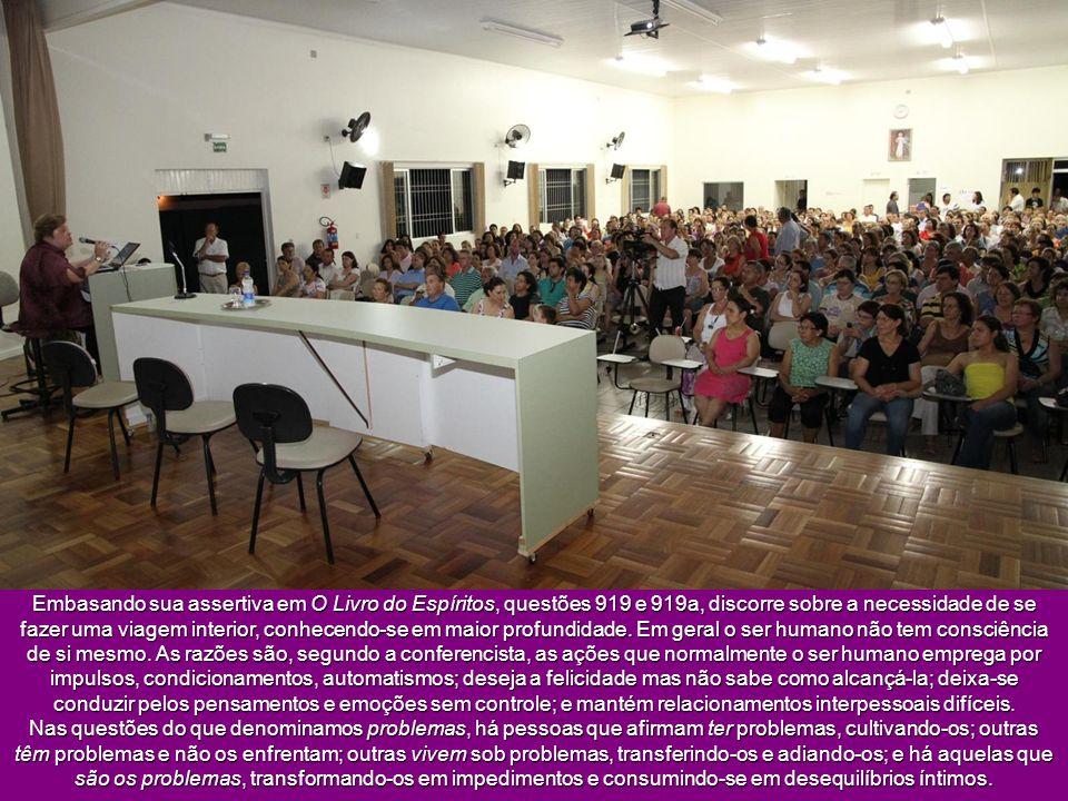 São Borja – 08 de novembro Na noite do dia 08 de novembro de 2010, Suely Caldas Schubert proferiu, na Associação Espírita Dr. José Ferreira de Moraes,