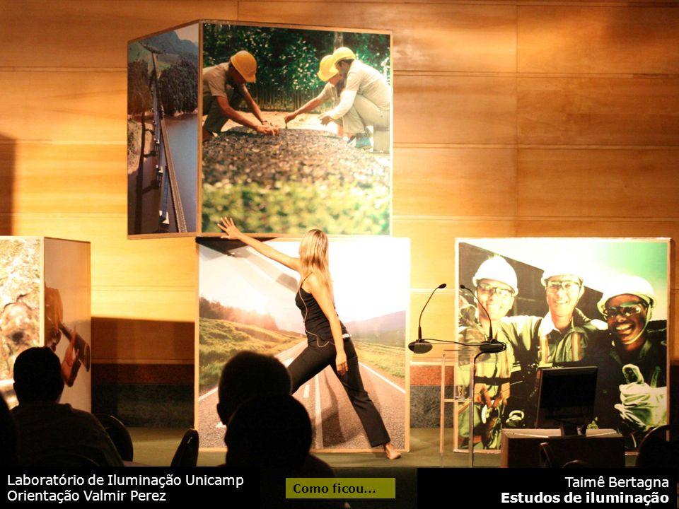 Laboratório de Iluminação Unicamp Orientação Valmir Perez Taimê Bertagna Estudos de iluminação Como ficou...