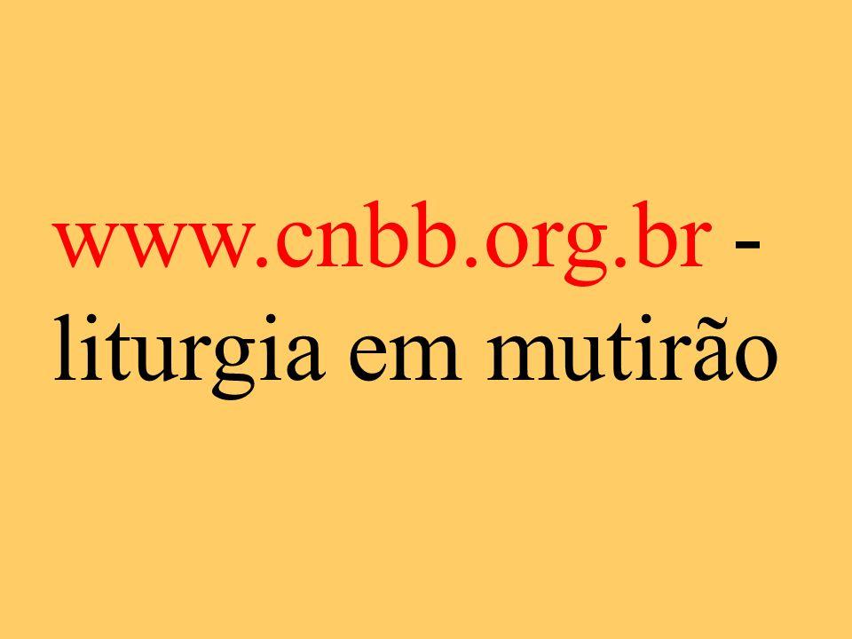 www.cnbb.org.br - liturgia em mutirão