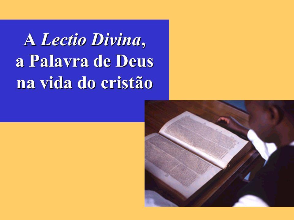 A Lectio Divina, a Palavra de Deus na vida do cristão