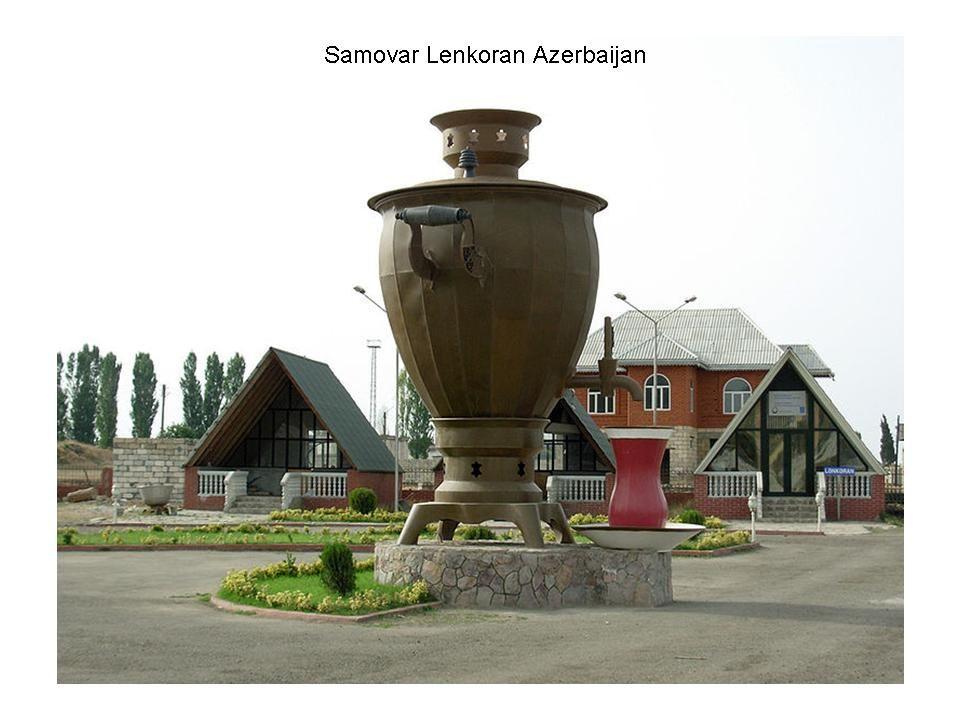 Fora da rússia A cultura do Samovar tem sua analogia no Iran e Turquia, onde até hoje é bem cultivada. No Irã, samovares são usados há cerca de 2 sécu