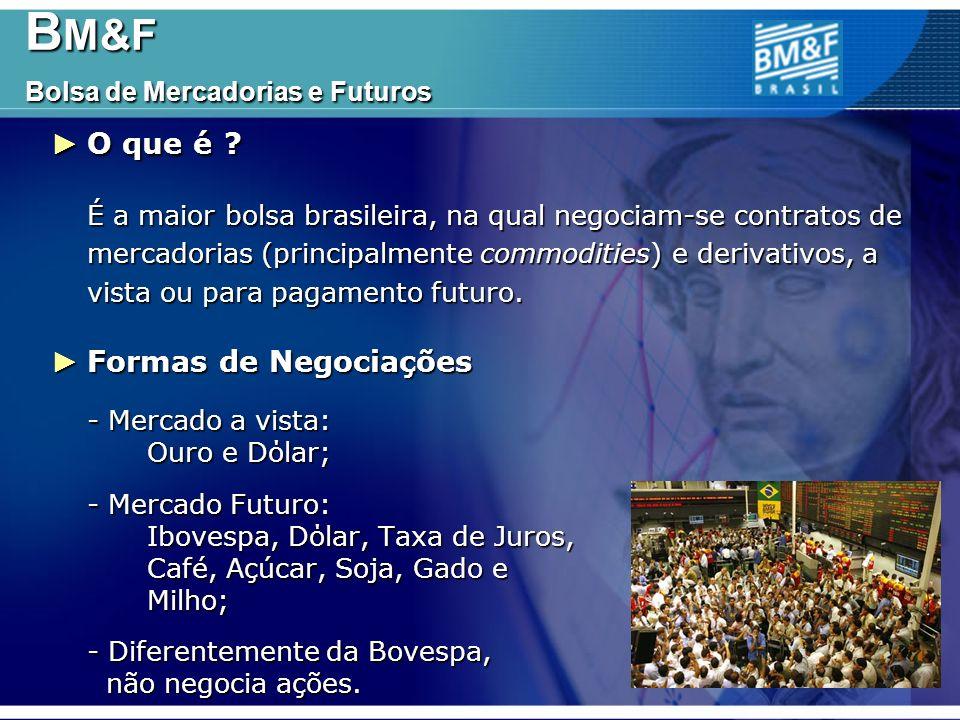 B M&F Bolsa de Mercadorias e Futuros B M&F Bolsa de Mercadorias e Futuros