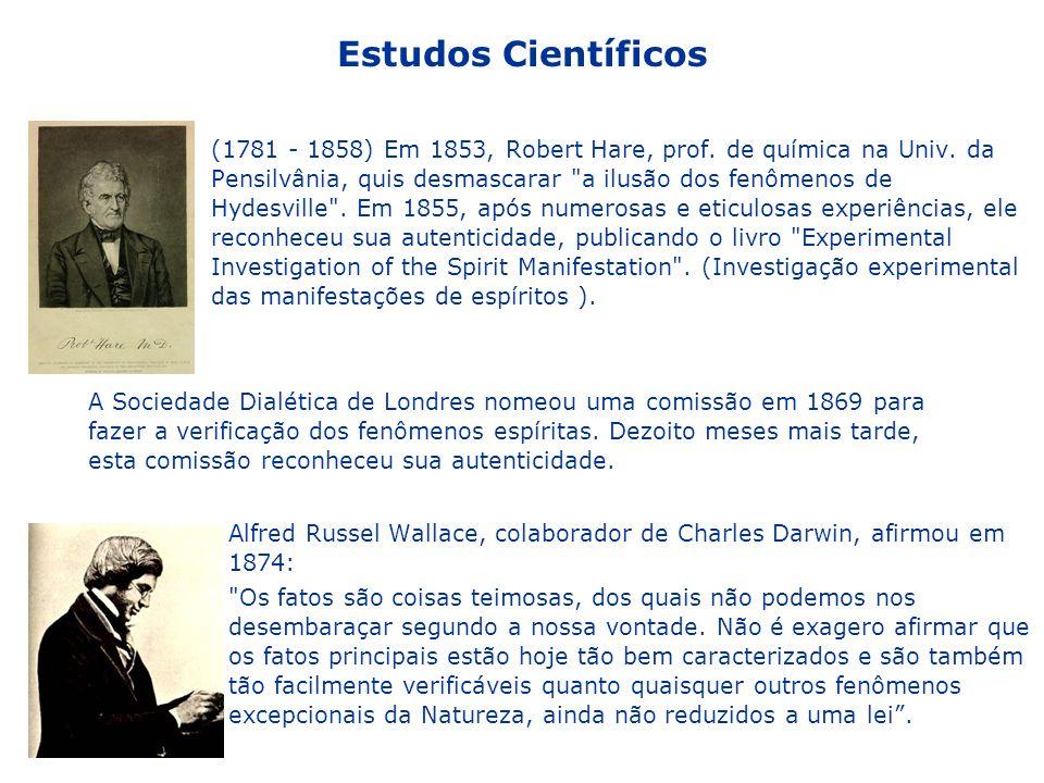 (1781 - 1858) Em 1853, Robert Hare, prof. de química na Univ. da Pensilvânia, quis desmascarar