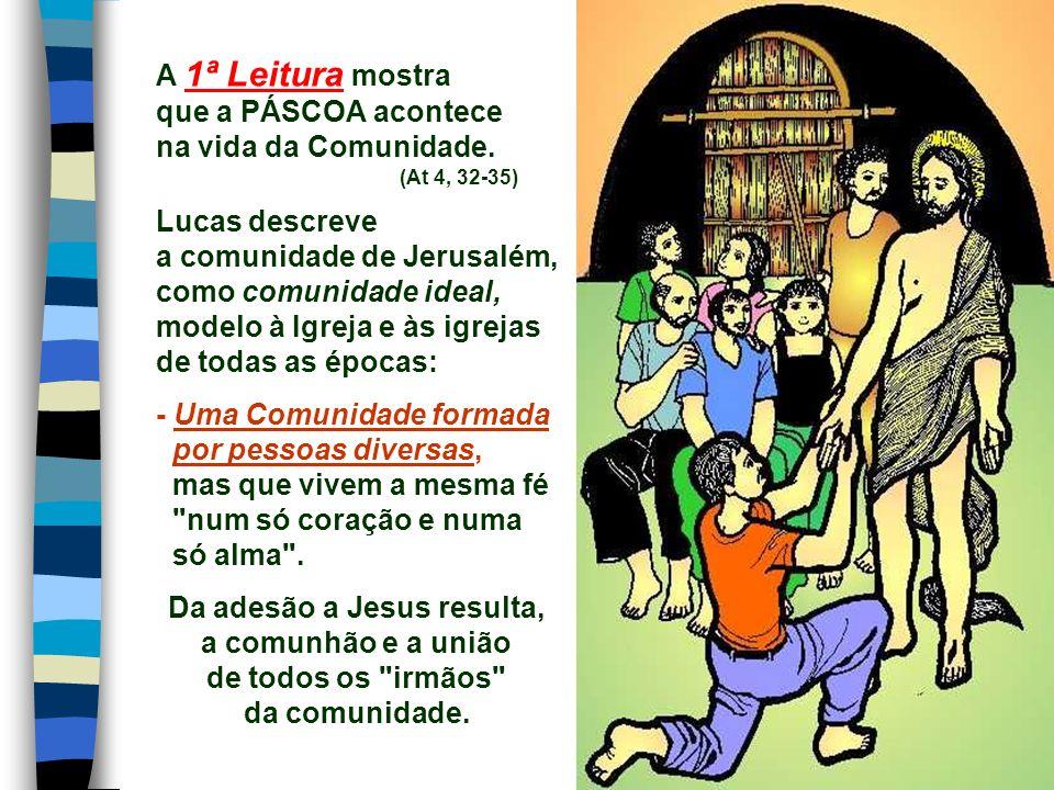 A liturgia de hoje apresenta a Comunidade Nova, que nasce da cruz e da ressurreição de Jesus: a IGREJA, e nos convida a viver a fé em Cristo ressuscit