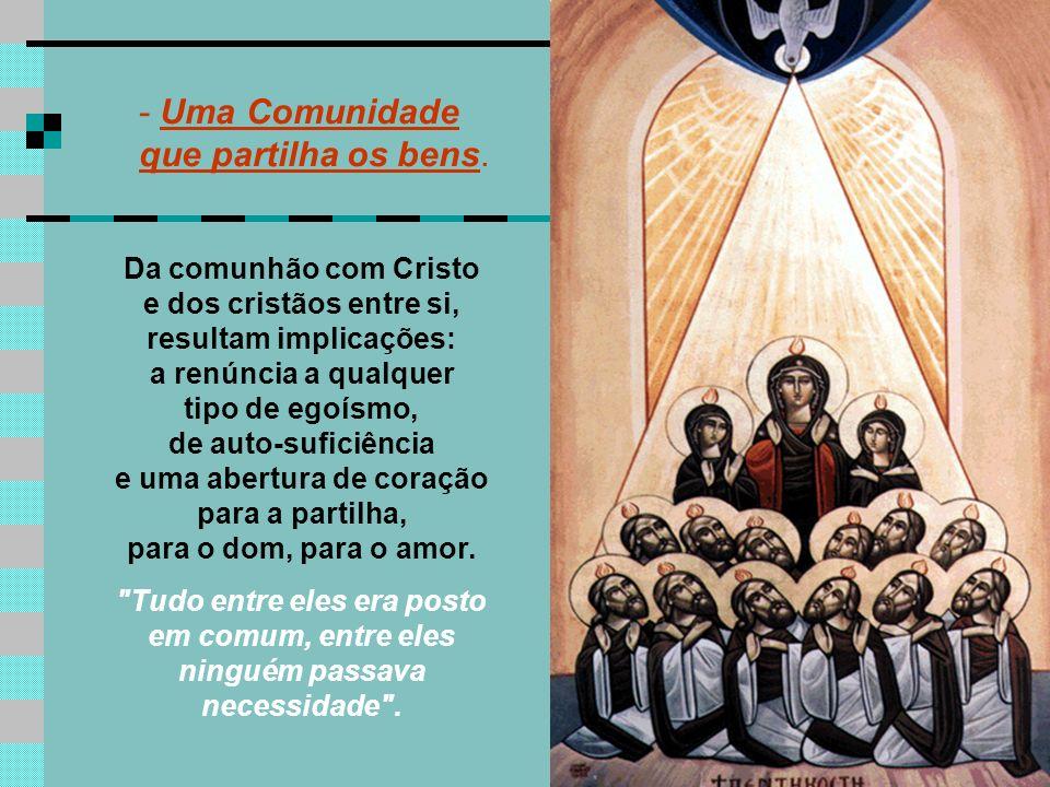 A 1ª Leitura mostra que a PÁSCOA acontece na vida da Comunidade. (At 4, 32-35) Lucas descreve a comunidade de Jerusalém, como comunidade ideal, modelo