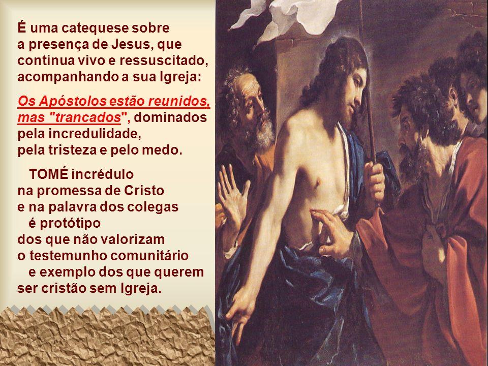 A 2ª Leitura afirma que a PÁSCOA acontece quando amamos a Deus e pomos em prática os seus mandamentos. (1Jo 5, 1-6) O Evangelho mostra que a PÁSCOA ac