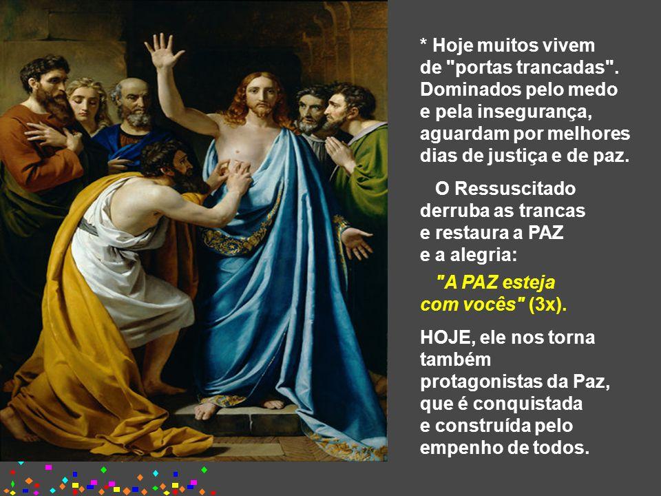 É uma catequese sobre a presença de Jesus, que continua vivo e ressuscitado, acompanhando a sua Igreja: Os Apóstolos estão reunidos, mas
