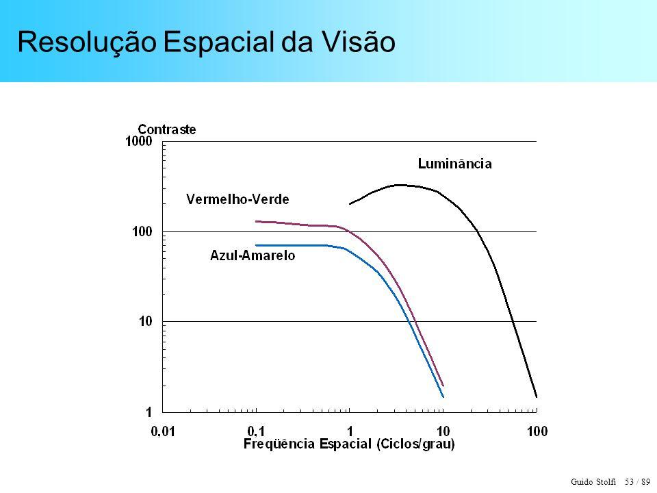 Guido Stolfi 53 / 89 Resolução Espacial da Visão