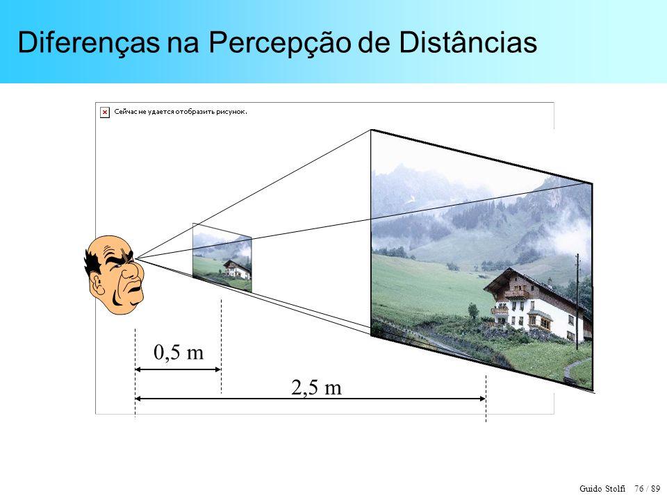 Guido Stolfi 76 / 89 Diferenças na Percepção de Distâncias 2,5 m 0,5 m