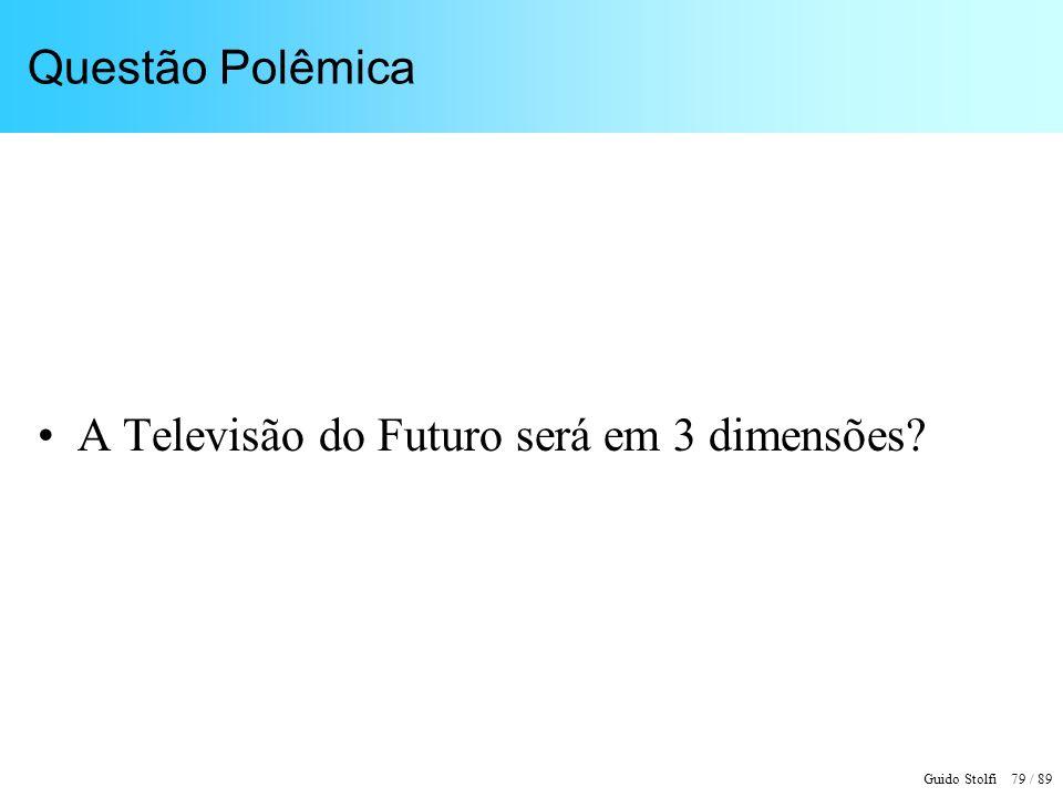 Guido Stolfi 79 / 89 Questão Polêmica A Televisão do Futuro será em 3 dimensões?
