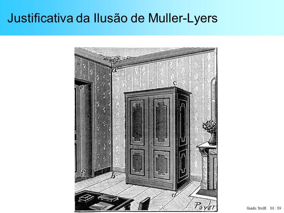 Guido Stolfi 86 / 89 Justificativa da Ilusão de Muller-Lyers