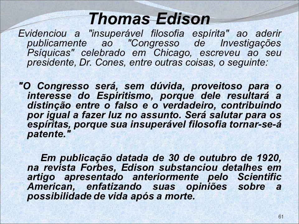 Thomas Edison Evidenciou a