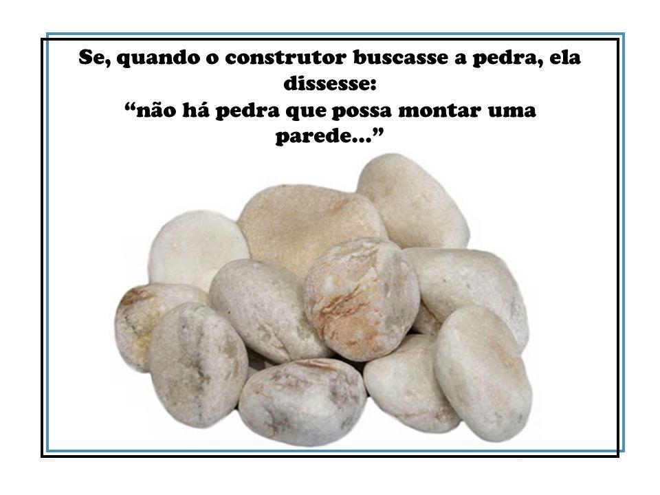 Deus conta com as pedras da sua construção ativa nas boas obras para que muitos dos seus filhos não morram de fome, nem padeçam frio, nas estreitas vielas da amargura e do abandono.