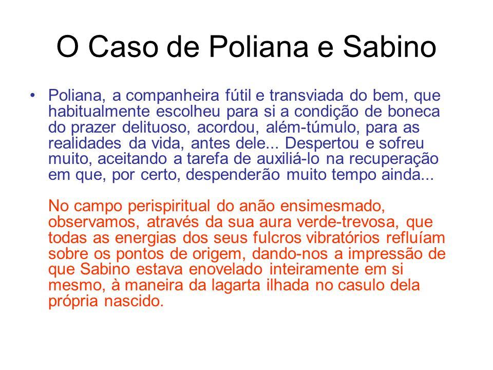 O Caso de Poliana e Sabino Poliana, a companheira fútil e transviada do bem, que habitualmente escolheu para si a condição de boneca do prazer delituoso, acordou, além-túmulo, para as realidades da vida, antes dele...