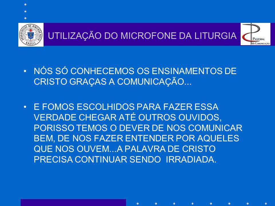 VENCER A SÍ PRÓPRIO É A MAIOR DE TODAS AS VITÓRIAS Platão UTILIZAÇÃO DO MICROFONE DA LITURGIA