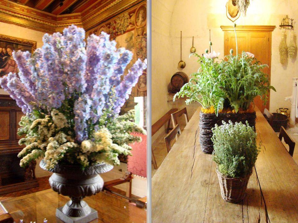 A decoração floral de Chenonceau necessita uma importante produção de flores.