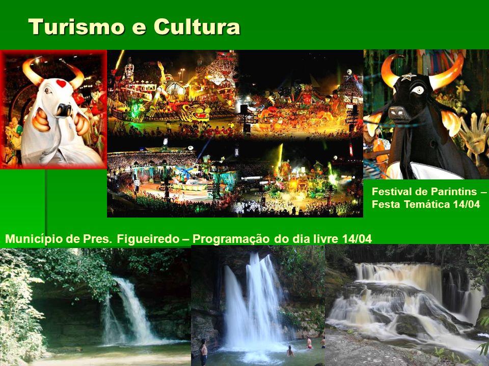 Turismo e Cultura Município de Pres. Figueiredo – Programação do dia livre 14/04 Festival de Parintins – Festa Temática 14/04
