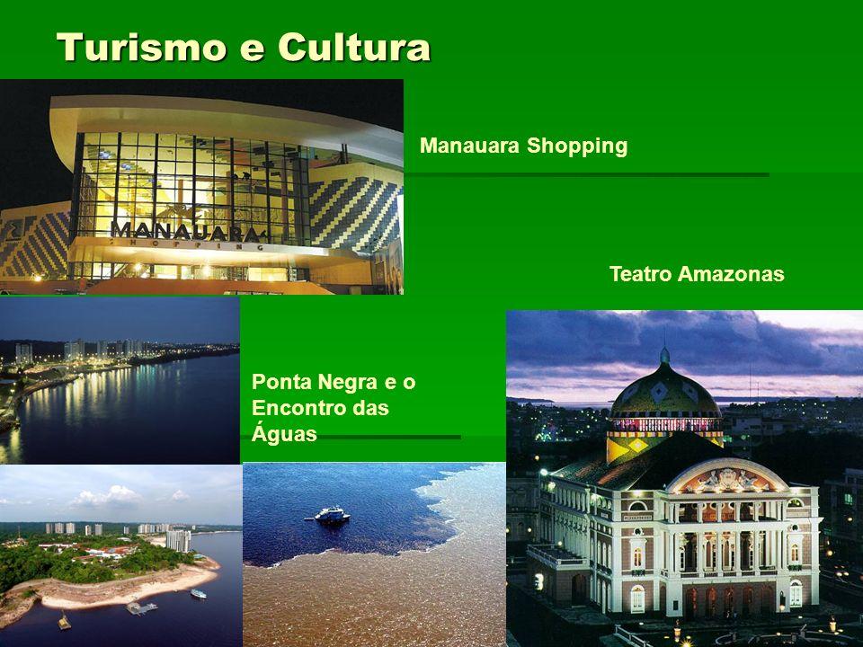 Turismo e Cultura Manauara Shopping Ponta Negra e o Encontro das Águas Teatro Amazonas