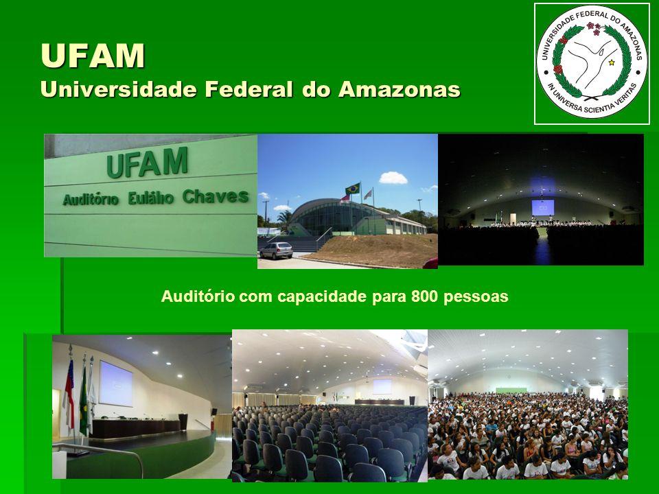 UFAM Universidade Federal do Amazonas Auditório com capacidade para 800 pessoas