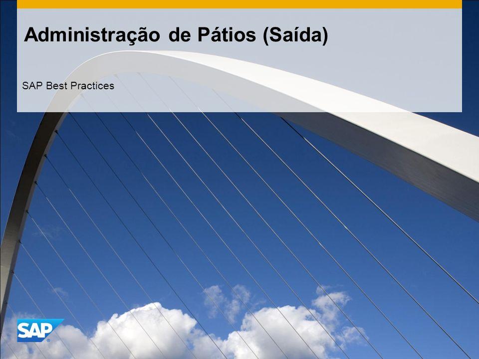 Administração de Pátios (Saída) SAP Best Practices