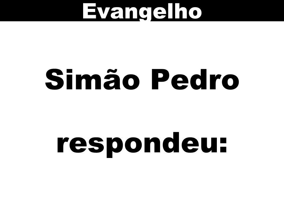 Simão Pedro respondeu: Evangelho