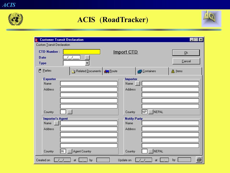 ACIS RoadTracker ACIS no Contexto Rodoviário
