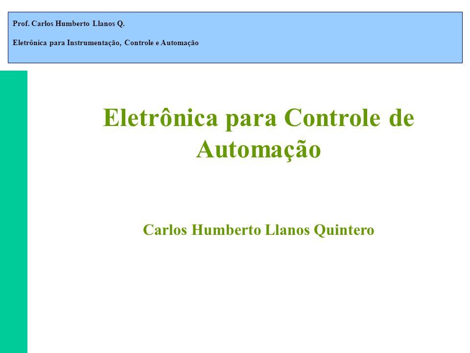 Prof. Carlos Humberto Llanos Q. Eletrônica para Instrumentação, Controle e Automação Eletrônica para Controle de Automação Carlos Humberto Llanos Quin