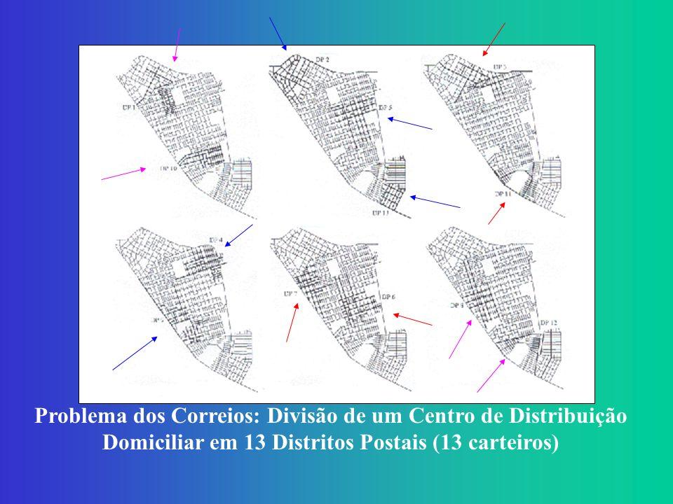 Problema dos Correios: Divisão de um Centro de Distribuição Domiciliar em 13 Distritos Postais (13 carteiros)