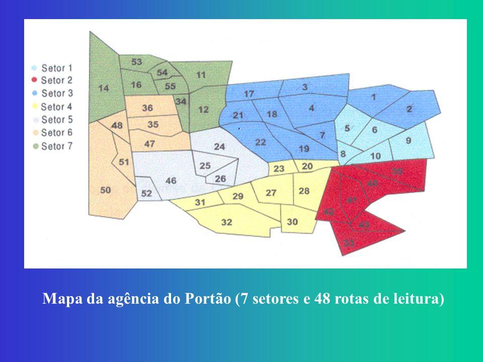 Os 774 Pontos de Demanda que definem a região estudada.